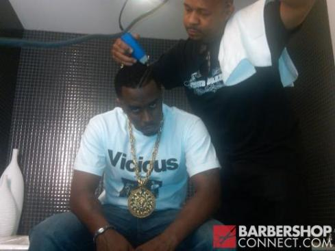 P DIDDY Getting a new High Top Fade haircut by Curtis Smith