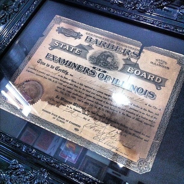 Antique Barber License