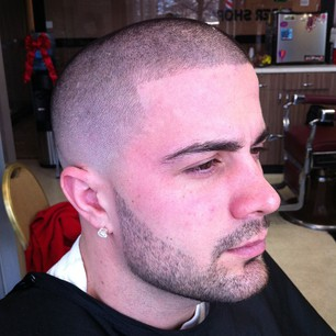 Bald Fade with Beard by Lawrence The Barber