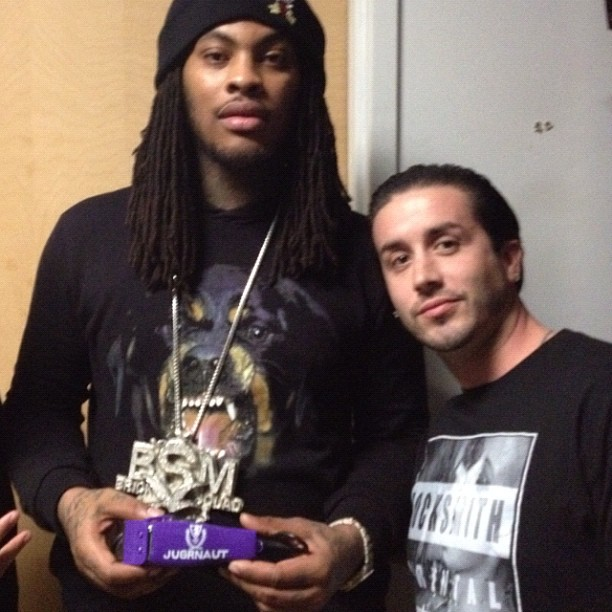 Lawrence gives waka flaka flame custom clippers