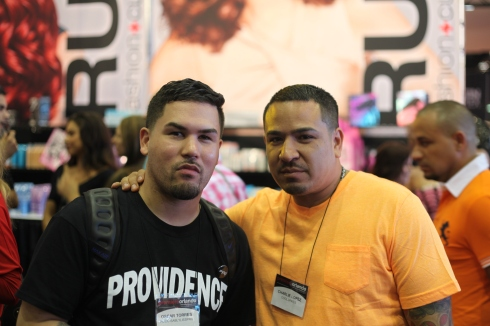 "Oscar ""barber since 98"" Torres & Brian The Barber at the Premiere Show in Orlando"