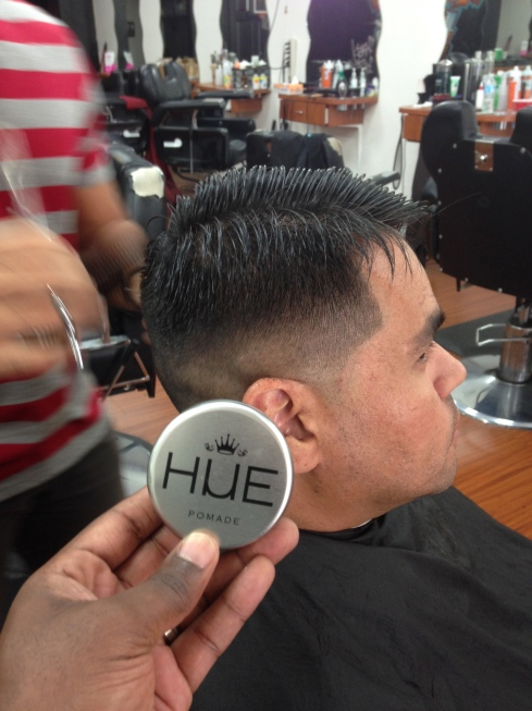 @gangreen_barber51 using HUE while doing a combover fade