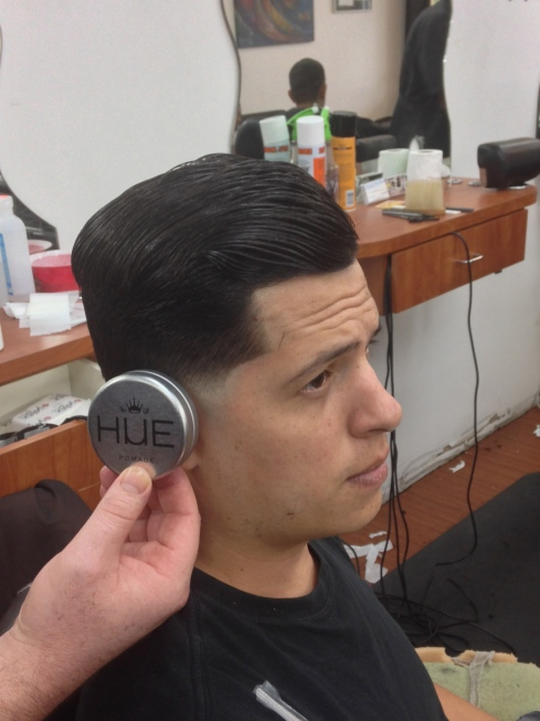 @trav_thebarber using Hue For Everyman on a low taper combover @krazykutsbarbershop